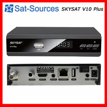 French IKS Satellite Receiver SKYSAT V10 Plus Support CCCam Newcamd Youtube PowerVu IPTV M3U Xtream-codes HD Set Top Box(China)