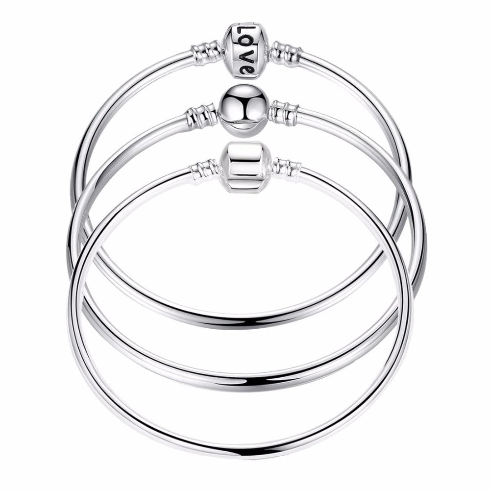 2019 Nieuwe collectie 16-21 cm Rose goud kleur Snake Chain Charm Bead Fit originele WST armband sieraden cadeau voor vrouwen ZBB9009