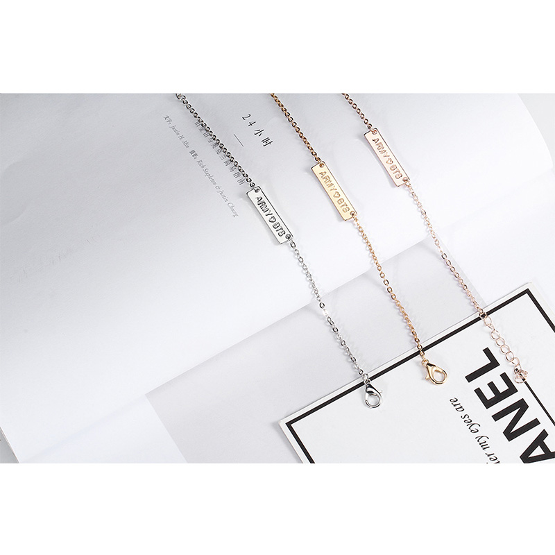 Competent New Kpop Bts Bt21 Bangtan Boys Army Fans Gold Bracelet Silver Bracelet Korean Fashion Women Girls Pendant Jewelry 18+5cm Nourishing The Kidneys Relieving Rheumatism Women's Clothing