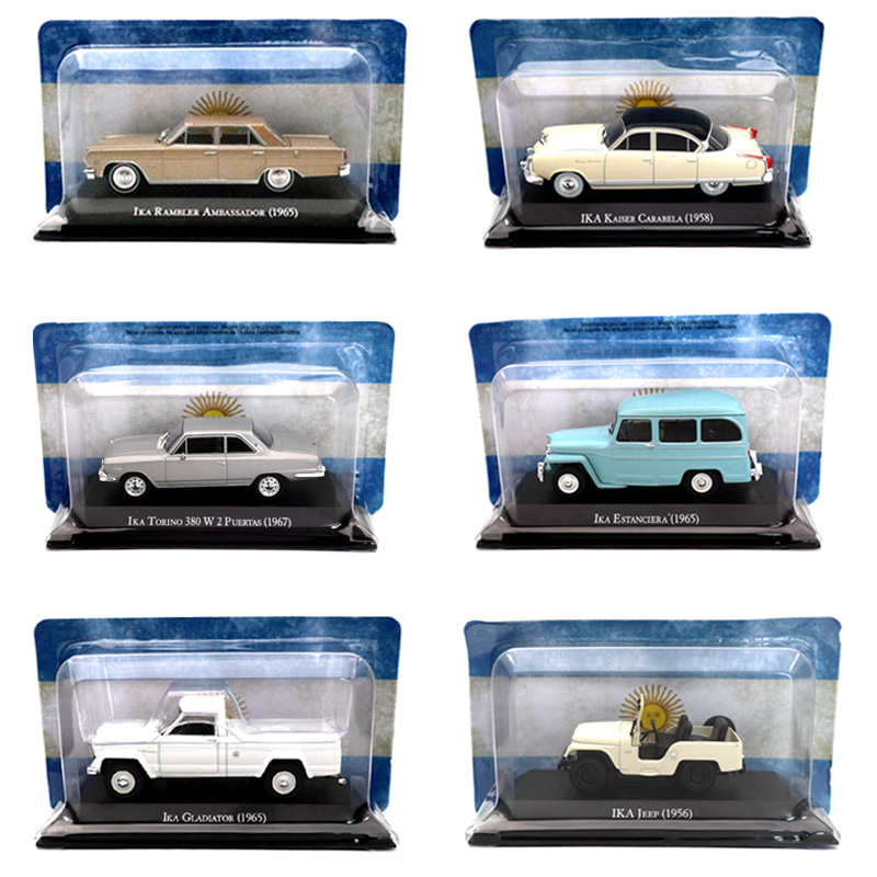 Lots Of Altaya IXO 1:43 IKA Jeep Rambler Ambassador Estanciera Bergantin Torino Miniature Diecast Models Toys Car Collection