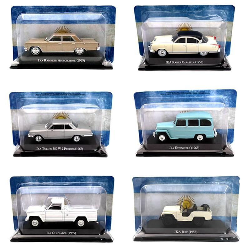Lots Of Altaya IXO 1:43 IKA Jeep Rambler Ambassador Estanciera Bergantin Torino Miniature Diecast Models Toys Car Collection
