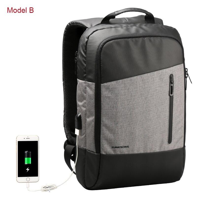 Kingsons Men Casual Daypacks USB Charging Laptop Backpack Phone Sucking Backpacks Teenager Travel Bags все цены