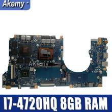 Amazoon с I7-4720HQ 8 GB Оперативная память GTX960M-4GB для ASUS N501J N501JW G501JW G501J UX50JW UX501J Материнская плата ноутбука N501JW плата