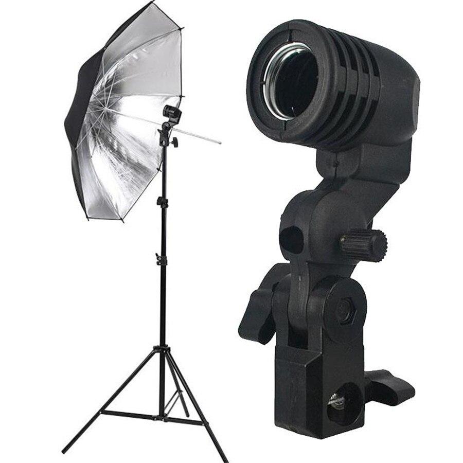 AC 100-240 v 50/60Hz Iluminação de Estúdio de Fotografia Única Lâmpada de Luz Da Lâmpada E27 Titular Soquete do Flash Suporte de Montagem do guarda-chuva EUA/Plug UE