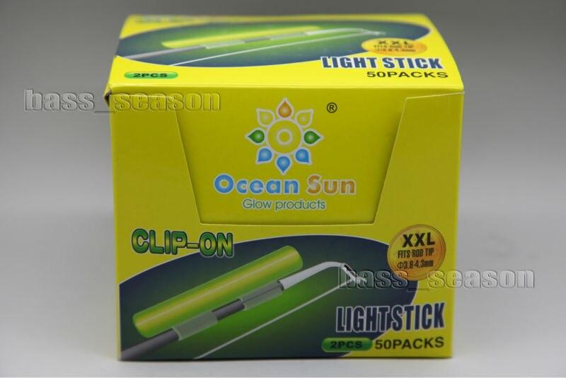 Pack 100 Pcs Chemical Light Fishing Fluorescent Glow Stick Fits Rod Tip XXL Type