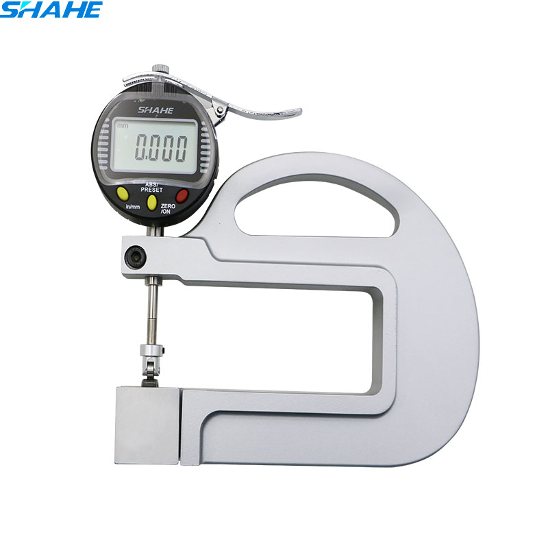 0.001mm Digital micrometer thickness gauge tester thickness meter with Roller Insert paper leatherthickness gauge 0 5mm portable thickness gauge tester 0 001mm micrometer thickness meter measurement tool bc05