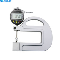 0.001mm Digital micrometer thickness gauge tester thickness meter with Roller Insert paper leatherthickness gauge