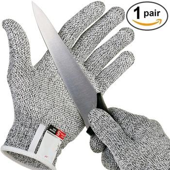 Poziom 5 food grade odporne na przecięcia rękawice kuchenne rękawice ochronne kuchnia odporne na przecięcia uboju rękawice ochronne tanie i dobre opinie NoEnName_Null HPPE Pasuje prawda na wymiar weź swój normalny rozmiar BE213
