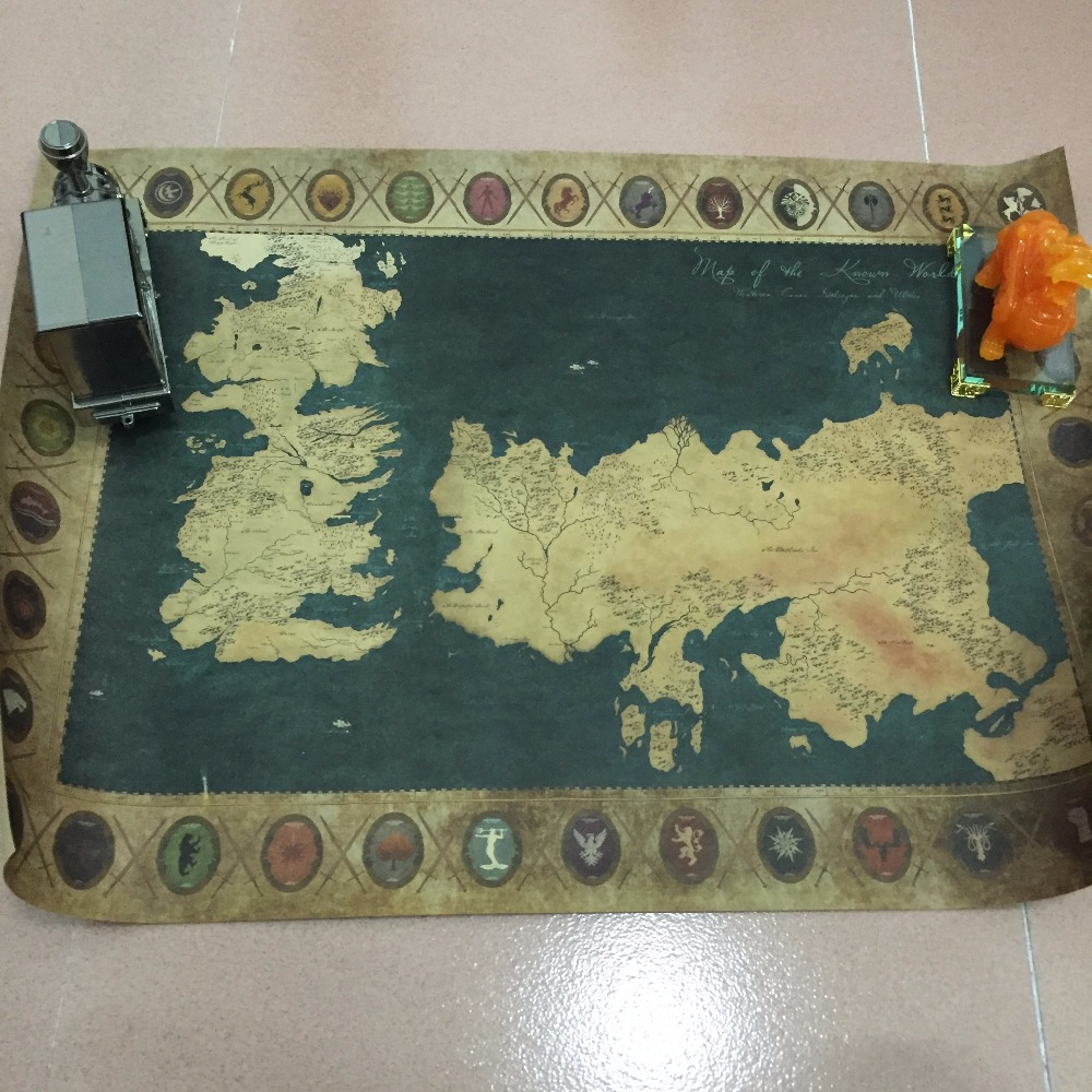 Xn 004 Retro Kraft Game Of Thrones Map Movie Poster Wall Art Crafts