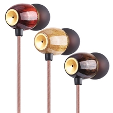 2017 Brand New M100 In Ear Earphone HIFI Wood Earphone  Headset Tri-frequencies Equalization 3 Color Earphone