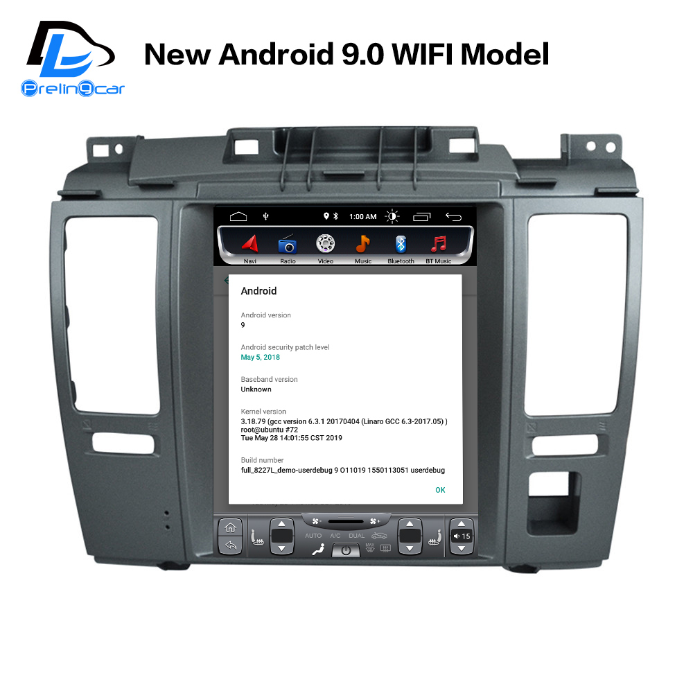 android 9.0 2G RAM 32G ROM 4G LTE car gps multimedia stereo radio p for nissan tiida pulsar vetical player navigation system