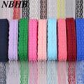 NBHB africana de encaje cinta de 10 yardas/lote 20mm de accesorios de bricolaje 17 colores tela de encaje bordado de fiesta de boda decoración