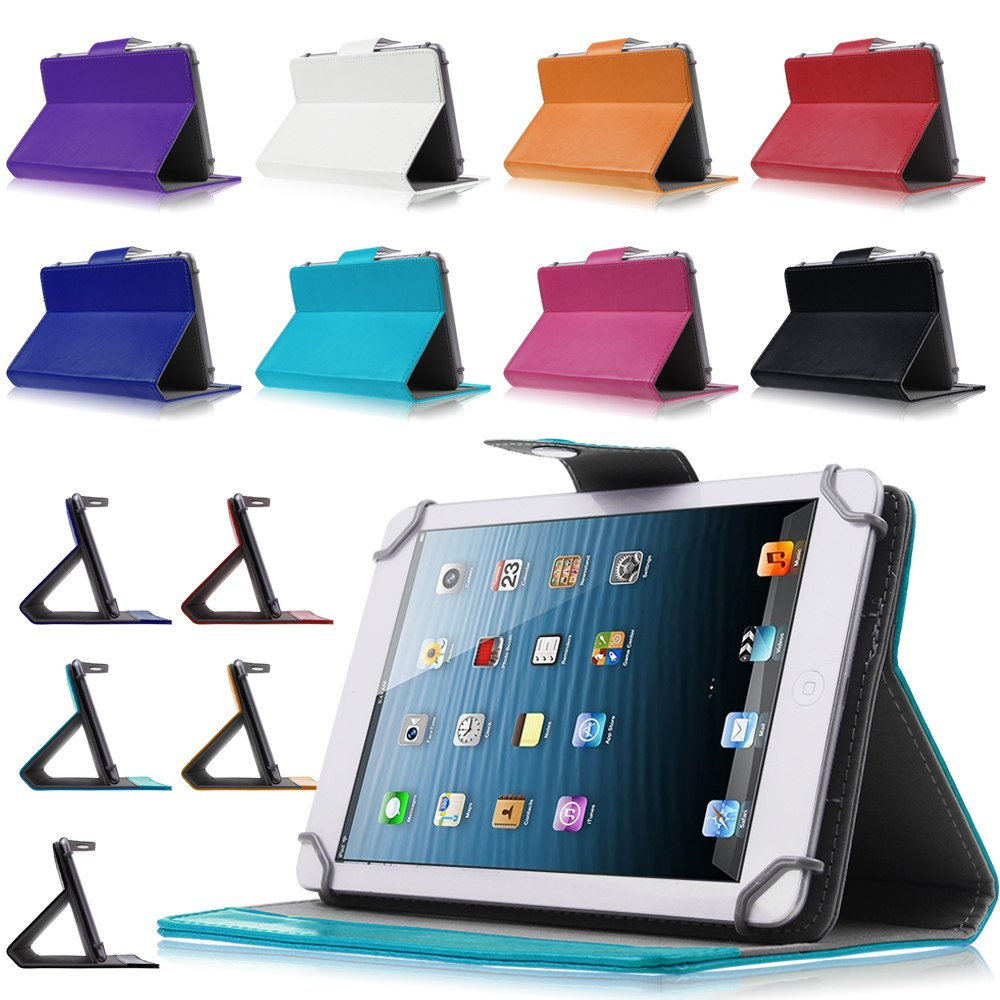 7 inch Universal Tablet Cases For Alcatel One Touch T10/Pixi 7 3G PU Leather Stand Adjustable Case Cover For Alcatel Y2C43D
