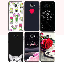 Black Matte TPU Phone Case For Samsung Galaxy S9 Plus A8 Plus 2018 J3 J5 J7 A5 2017 A3 A7 2016 Silicon Cover Heart Lover Pattern(China)