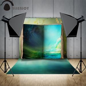 Image 2 - Allenjoy خلفية للصور يطلق النار كتاب الأزرق الغامض العجائب النفط اللوحة خلفيات للصور استوديو لاطلاق النار على الصور