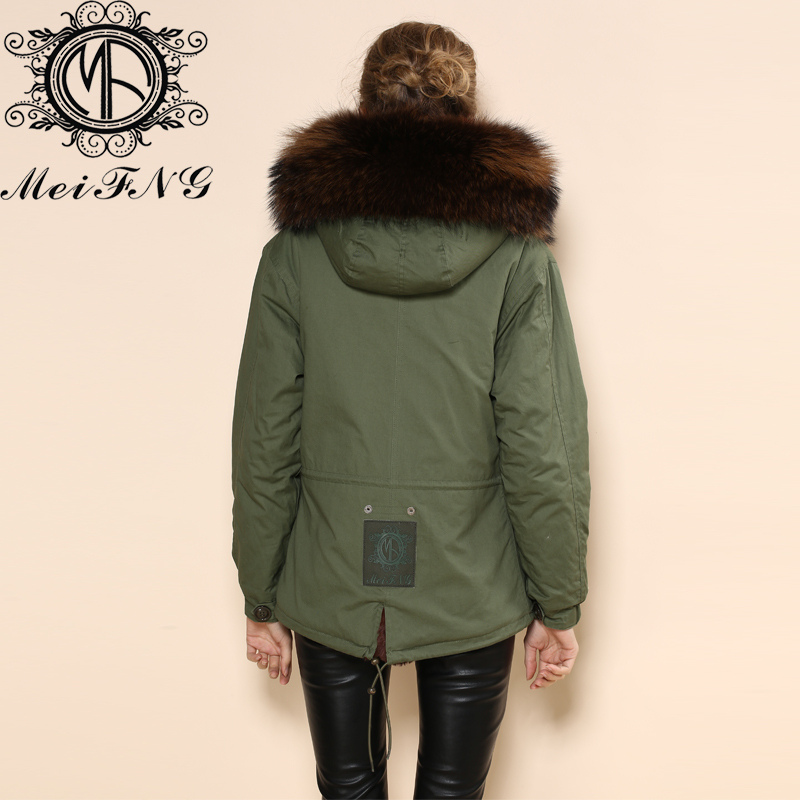 Корейская новая теплая подкладка кофе с капюшоном короткая шуба женская и Мужская Меховая куртка