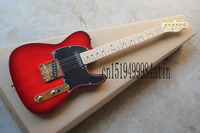 Free shipping new telecaster models TELE electric guitar burgundy gold accessories guitar @12