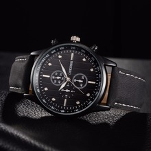 OUKESHI Chinese Top Brand New Fashion Watch Men Leather Strap Sport Style Casual Quartz Wristwatch Out-door relogio masculino