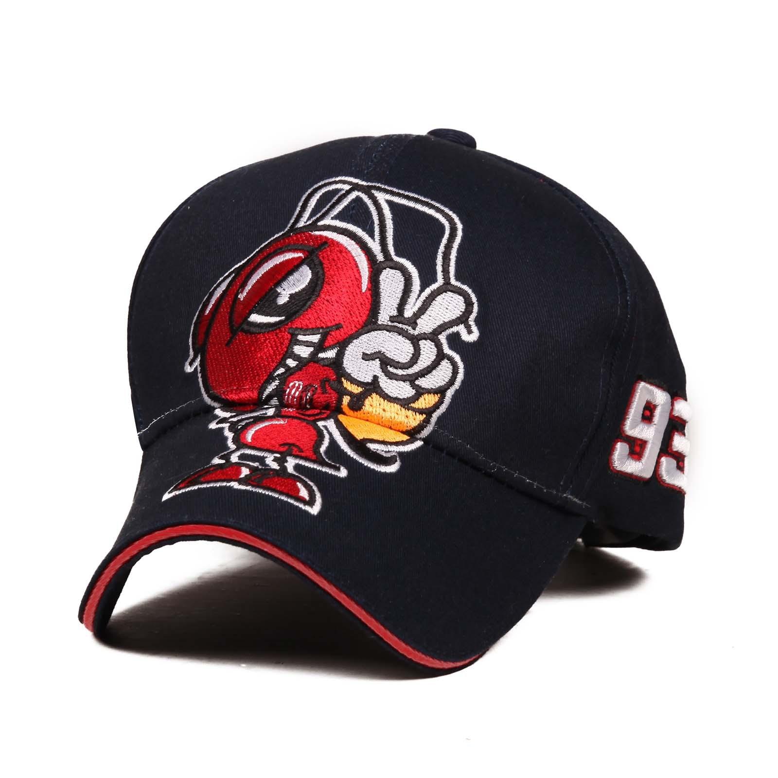 2018 Hot Sale Cosplay Cartoon Big Ant Embroidery Moto GP Marc Marquez  Racing Baseball Cap Hat Men Women Sports Snapback Hats-in Baseball Caps  from Apparel ... d308f853346f