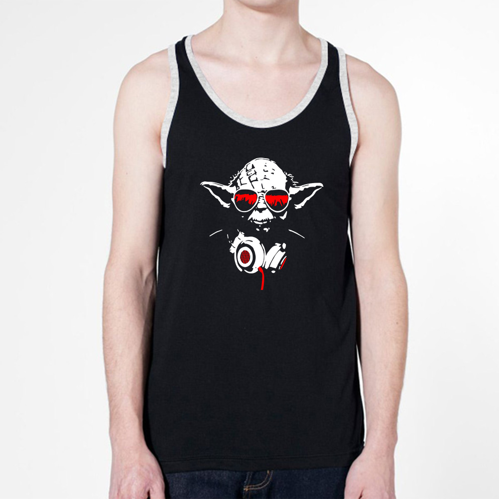 Wholesale men 39 s anime star wars logo printed tank tops man for Mens sleeveless denim shirt wholesale