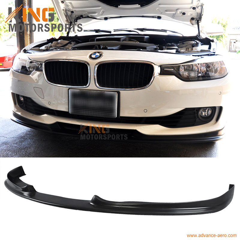 For 2012 2013 2014 2015 BMW F30 3-Series Sedan H-Style PU Front Bumper Lip for 2012 2013 honda civic 9th gen 2dr door coupe h style front bumper lip pu
