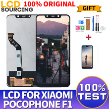 Pantalla LCD 100% ORIGINAL de 6,18 pulgadas para Xiaomi Pocophone F1, montaje de digitalizador con pantalla táctil + marco para POCO F1