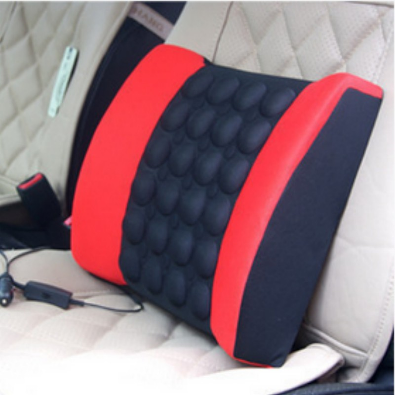 Car Seat Cover Back Cushion Electrical Mage Function Lumbar Support Make Driving Comfortable