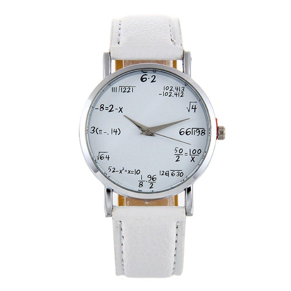 Quartz Women's Watch Clock Mathematics Leather Lovers