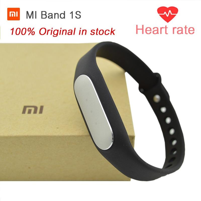 Newest 100% Original Xiaomi Mi Band 1S, Smart Xiaomi Miband Heart Rate Monitor P