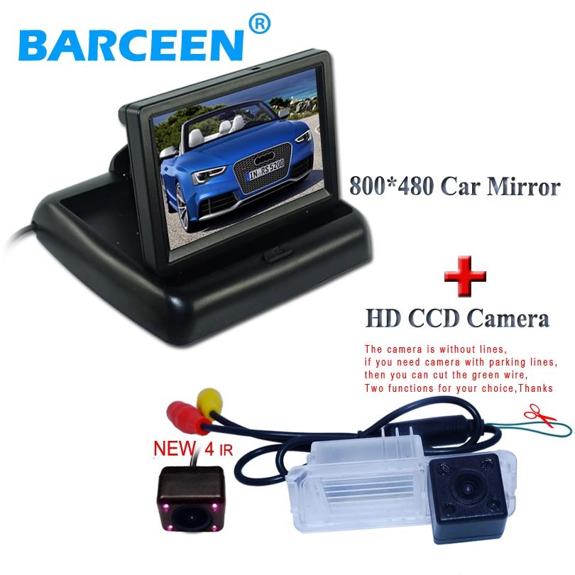 Couleur HD CCD voiture arrière caméra de recul fil avec antichoc + voiture affichage 4.3