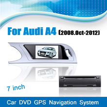 Car DVD Player GPS Navigation System Car Audio System Media Stereo for Audi A4(2008-2012) with Bluetooth