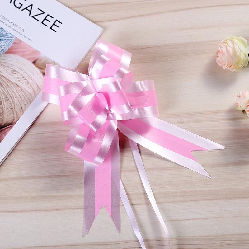 2xPull Up Ribbon Bow Flower Gift Wrapping Bouquet Party Wedding Venue Decoration