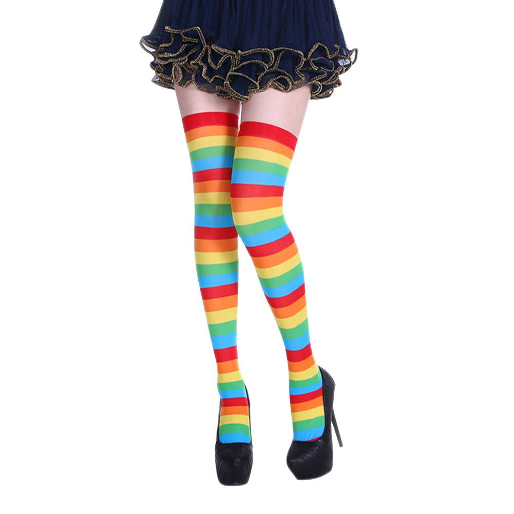 Women Cotton Thigh High Over The Knee Stockings For Ladies Girls Long Stockings Christmas Halloween Ball Party Costume