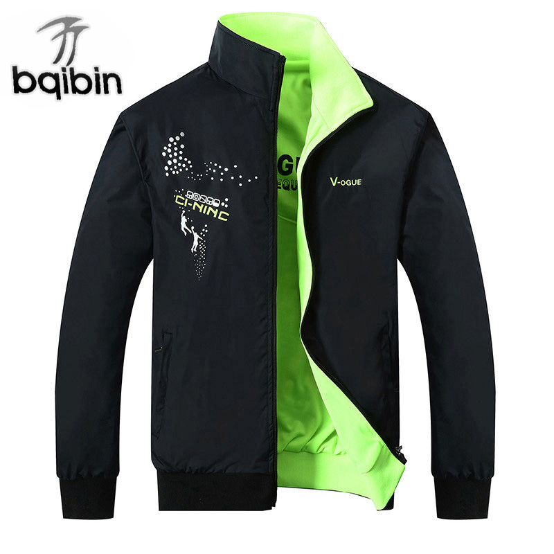2019 The New Jacket Male Spring Autumn Zipper Embroidery Printing Double Surface Brand Jacket Men'S Casual Thin Jacket Coat