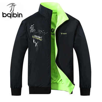 2019 The New Jacket Male Spring Autumn Zipper Embroidery Printing Double Surface Brand Jacket Men'S Casual Thin Jacket Coat - DISCOUNT ITEM  45% OFF All Category