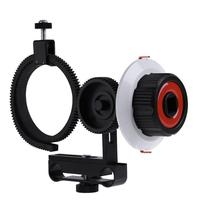 Metall + Kunststoff Follow Focus F0 mit Einstellbarer Zahnkranz Gürtel für Canon Nikon Sony DSLR Kamera Fotostudio kits
