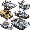 Alta Calidad Panlos 635010 ~ 12 Serie Super Arma Figuras Tanque Militar Modelo Building Blocks Establece Ladrillos Niños Juguetes para niños regalo