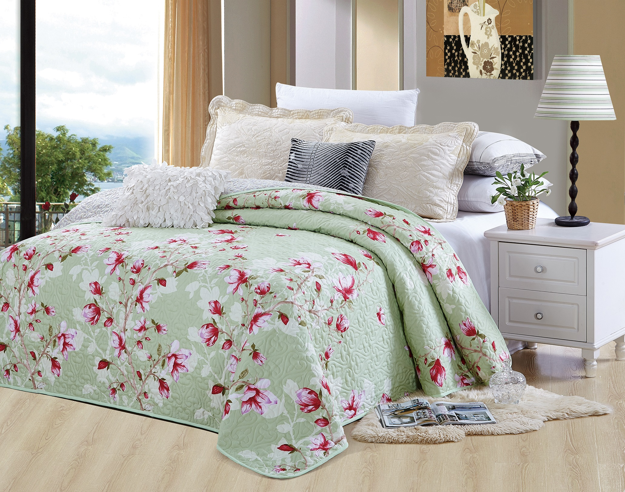 1PCS Fashion Bedspread Cotton Bed Cover Printed 160*240 220*240 260*240