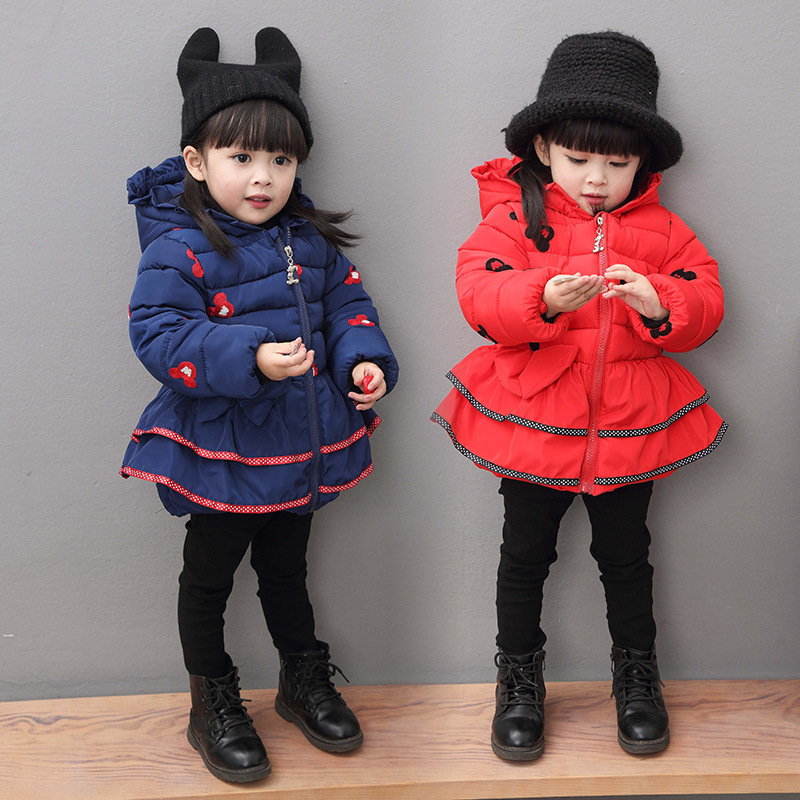 Anlencool 2018 winter Kids girls winter coat female baby child baby cartoon coat thick jacket Baby Fashion girl winter clothing цены онлайн