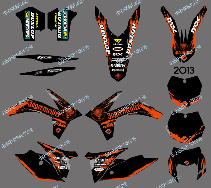 DST0601 NEW STYLE TEAM GRAPHICS WITH MATCHING BACKGROUNDS FOR KTM 125/200/250/300/350/450/500 EXC 2012-2013 XC 2011  0322 star new team graphics with matching backgrounds fit for ktm sx sxf 125 150 200 250 350 450 500 2011 2012