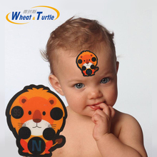 4Pcs/Lot Safety Care LCD Baby Thermometers Sticker Forehead Digital Thermometer Body Fever Medical Temperature For Children Kids
