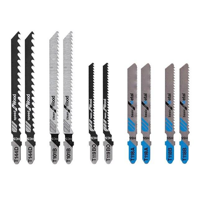 10 sztuk Assorted t shank Jig brzeszczoty do pił Saber Scroll Pattern narzędzia tnące