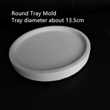 Round Cement Mould for flower pot vase Concrete planter tray silicone mold