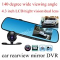 high quality 4.3'' inch Car Rearview Mirror Camera 140 degree wide viewing angle Video Recorder Car DVR HD Camcorder DashCam