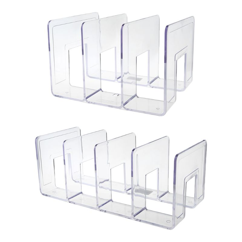 Acrylic Transparent Multi-layer Bookend Decorative Book Shelf Home Room Office School Library Stationery Supplies Gifts