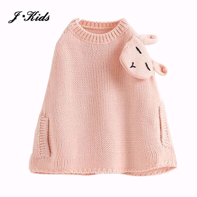 8264d3f3e 80 120cm girls sweater capes poncho 2017 Fashion autumn spring ...