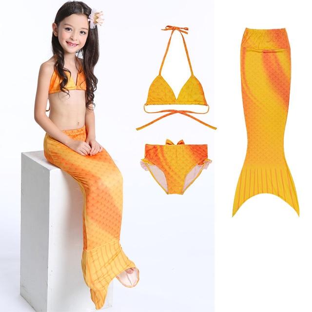 ea52b2cf0a Two-Piece Suits Kids Swimsuit Kids Mermaid Bikini Set Girls Fancy Mermaid  Tail Swimwear Swimsuit