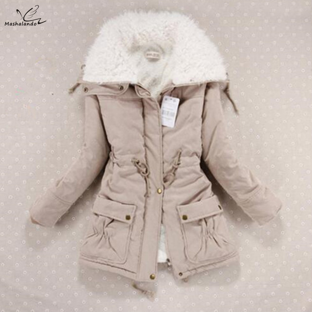 8904fc9b7574a New 2019 Winter Coat Women Slim Plus Size Outwear Medium-Long Wadded Jacket  Thick Hooded Cotton Wadded Warm Cotton Parkas