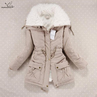 New 2019 Winter Coat Women Slim Plus Size Outwear Medium Long Wadded Jacket Thick Hooded Cotton Wadded Warm Cotton Parkas
