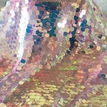 Переливающийся скатерти с русалками Единорог вечерние голографическая для свадьбы или «нулевого дня рождения» на день рождения вышивальная сетчатая кружева блестящая ткань с пайетками